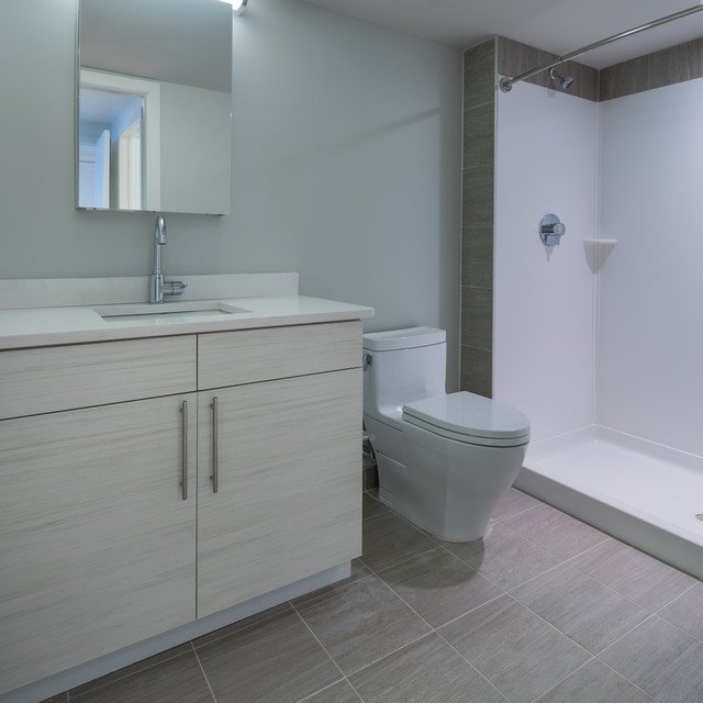 The Wyeth -  Bathroom with Stand Up Shower and Vanity Area