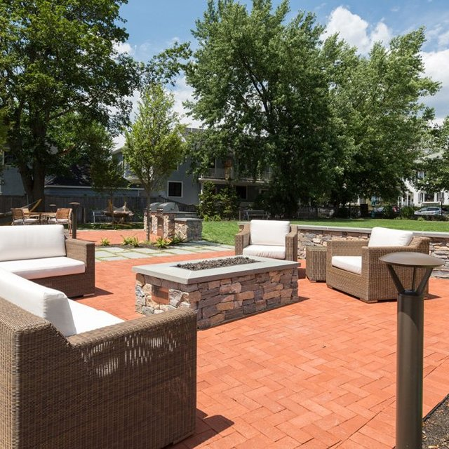 The Wyeth - Outdoor Lounge Area with Grilling Area and Firepit