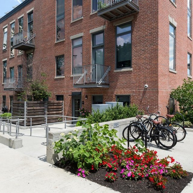 The Wyeth - Apartment Facade and Bike Parking